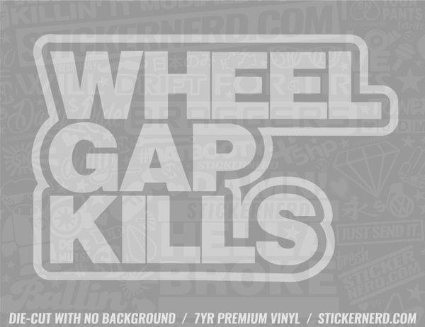 Wheel Gap Kills Sticker