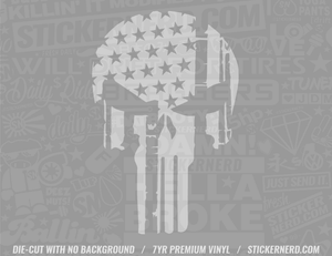 America Flag Skull Sticker #4735 - STICKERNERD.COM