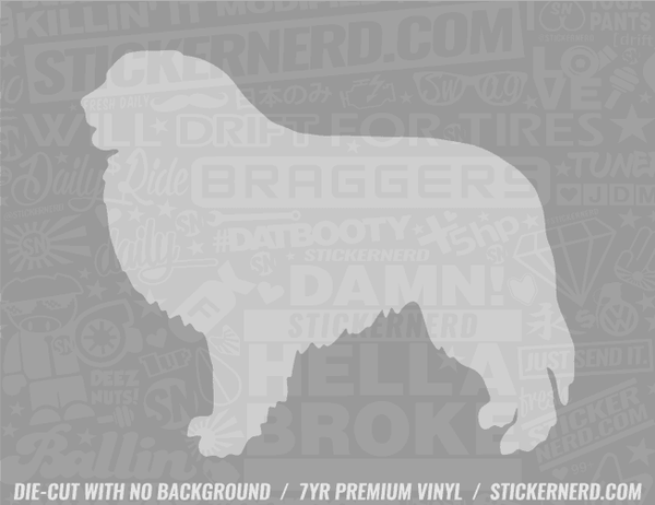 Great Pyrenees Dog Sticker - Window Decal - STICKERNERD.COM