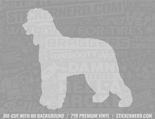 Irish Water Spaniel Dog Sticker - Window Decal - STICKERNERD.COM