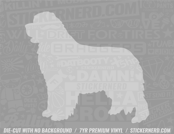 Newfoundland Dog Sticker - Window Decal - STICKERNERD.COM