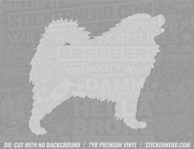 Samoyed Dog Sticker - Window Decal - STICKERNERD.COM