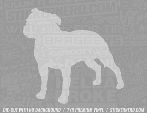 Staffordshire Bull Terrier Dog Sticker - Window Decal - STICKERNERD.COM