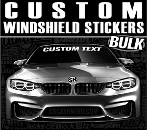 Bulk Custom Windshield Stickers - Window Decal - STICKERNERD.COM