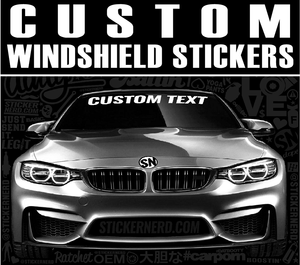 Custom Windshield Stickers - Window Decal - STICKERNERD.COM