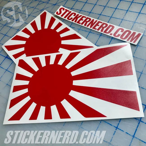 Japan Flag Rising Sun Sticker #7842