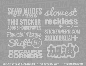 StickerBomb Pack - Window Decal - STICKERNERD.COM