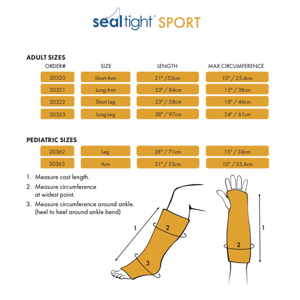 SEAL-TIGHT® SPORT - Adult Arm (Price includes GST and Shipping)