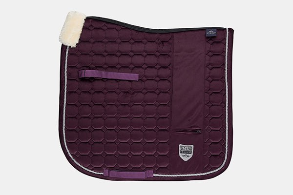 HV Polo Como Dressage Saddlepad in Plum