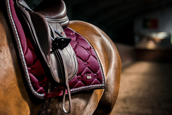 PS of Sweden monogram saddlepad in merlot