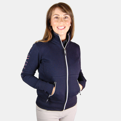 Cavallo Lena Zipped Jumper in Dark Blue