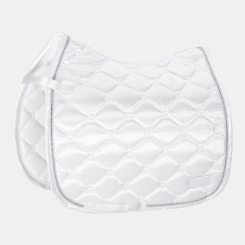 Eskadron Classic Sports Satin Emblem Dressage Saddlepad - White