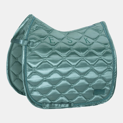 Eskadron Classic Sports Satin Emblem Dressage Saddlepad - Balsam Green