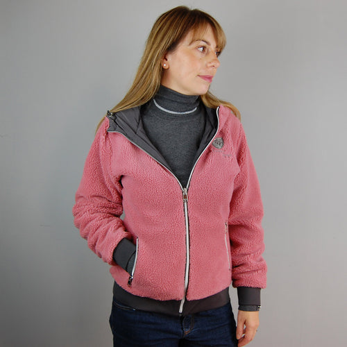 HV Polo Garnet Reversible Sweater in Cool Grey