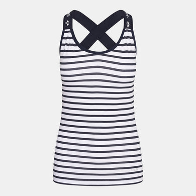 HV Polo J'adore Sleeveless Top - Navy & White