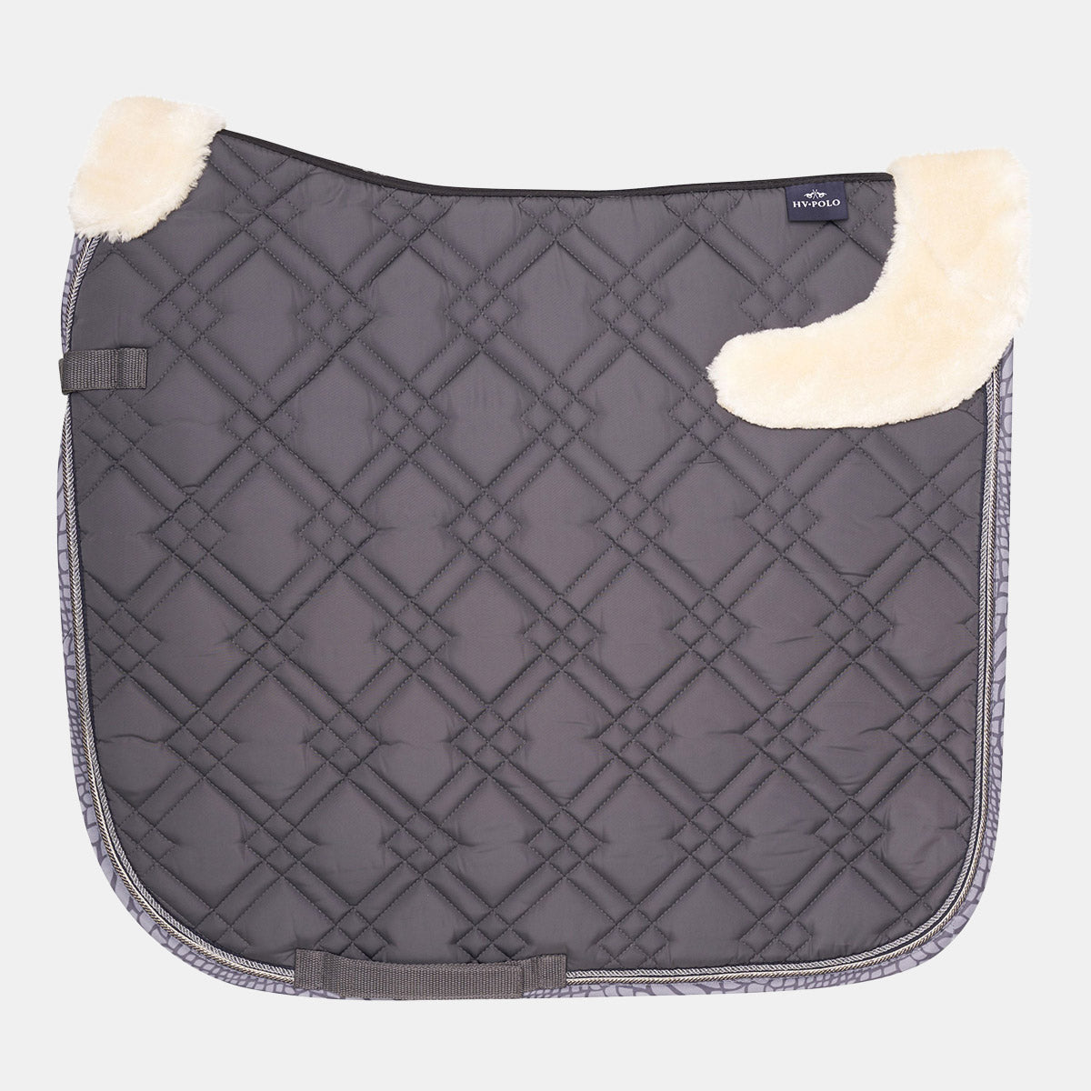 HV Polo Randy Dressage Saddlepad - Cool Grey
