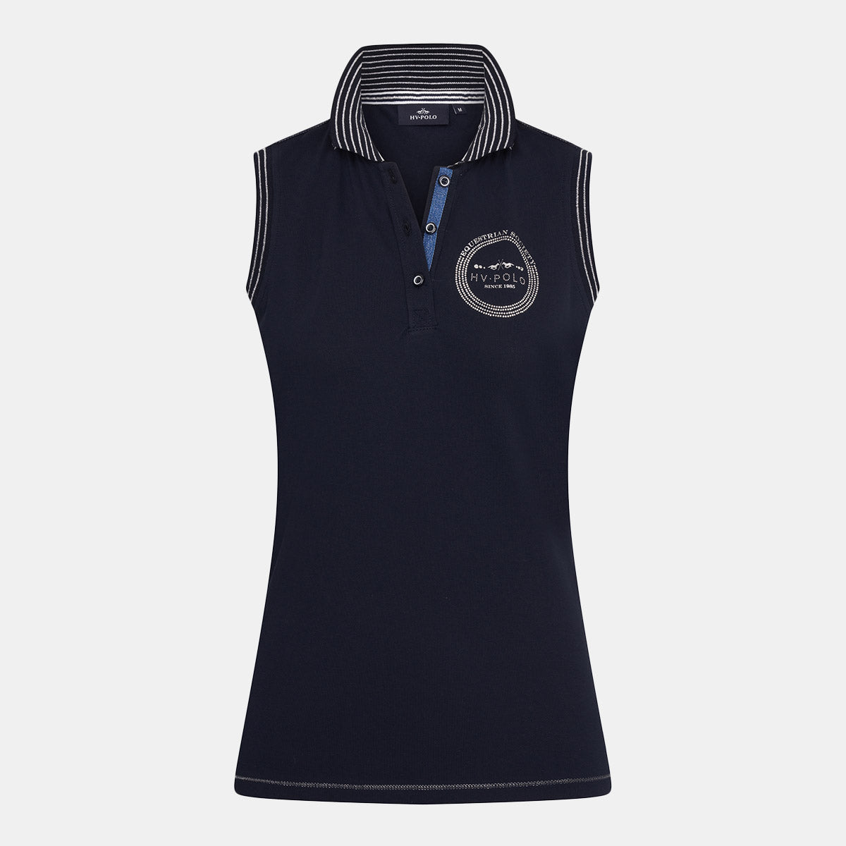 HV Polo Repost Sleeveless Polo - Navy