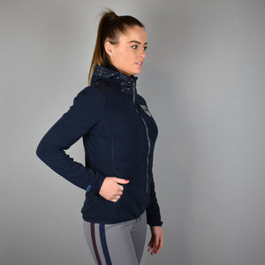 HV Polo Augusta Zipped Fleece Top in Navy