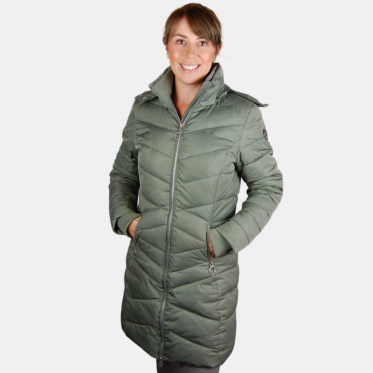 HV Polo Becky Long Jacket in Sage Green
