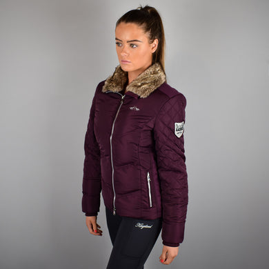HV Polo Belmont Padded Jacket in Plum