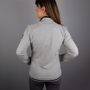 HV Polo Felice Zipped Cardigan in Grey Melange