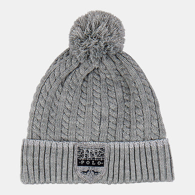 HV Polo Harper Bobble Hat in Grey Melange