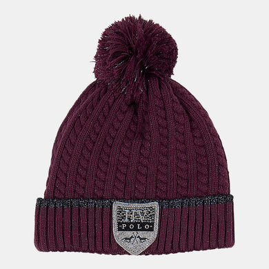 HV Polo Harper Bobble Hat in Plum