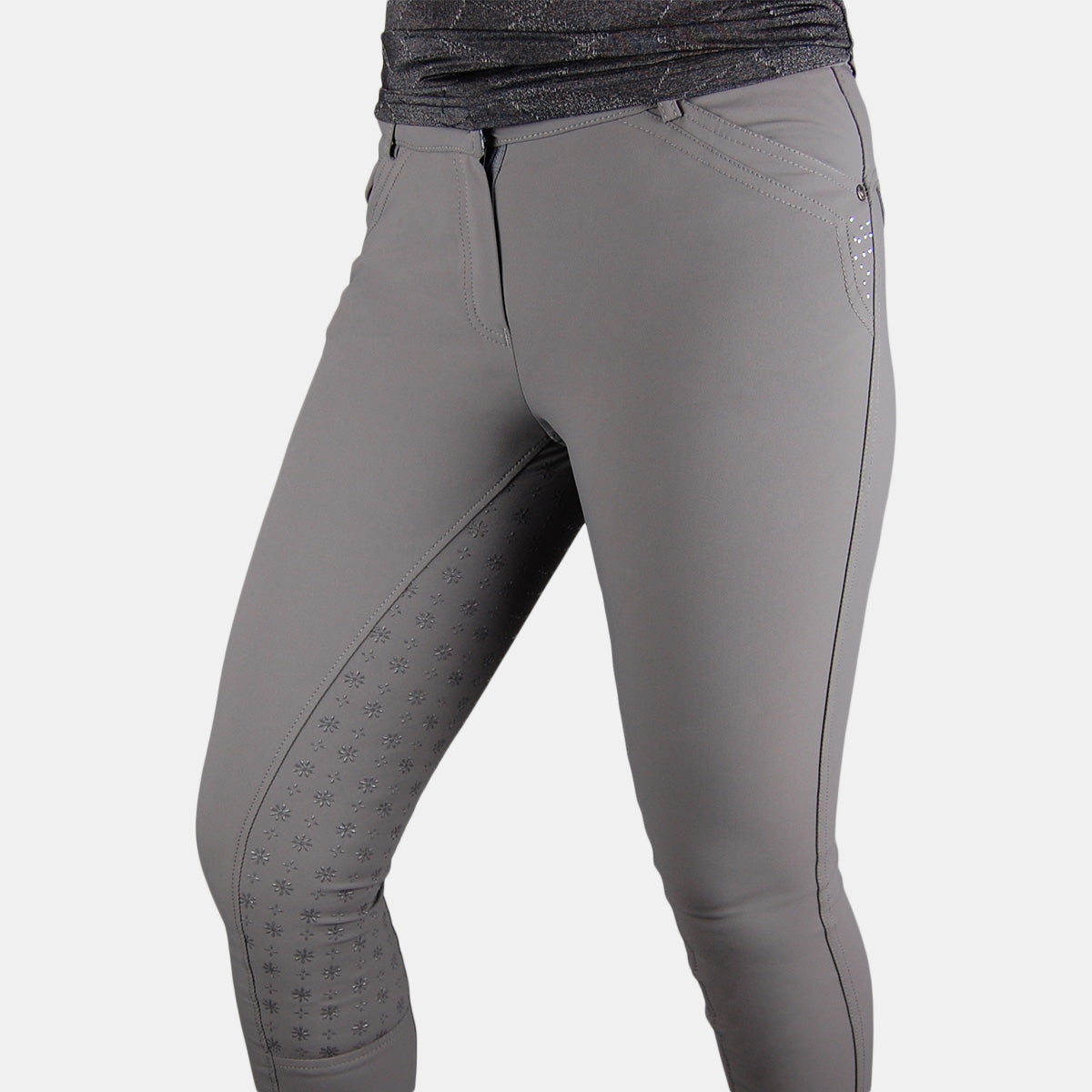 HV Polo Lucilla FSS Breeches in Pewter