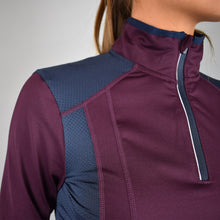 HV Polo Waroona Long Sleeve Top in Plum