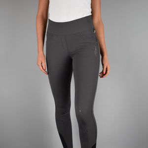 Kingsland Katja FSS Pull On Breeches in Grey Pinstripe