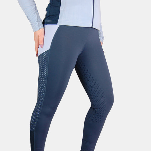 Kingsland Karina Full Grip Riding Tights in Blue Midnight Navy