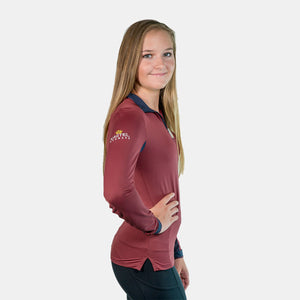 Kastel Denmark Christine Collection Long Sleeve Top in Burgundy