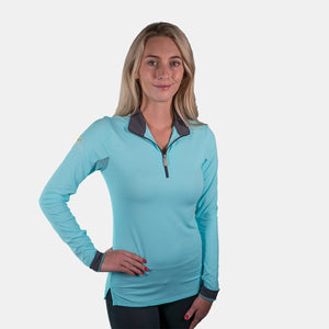 Kastel Denmark Long Sleeve Top in Turquoise