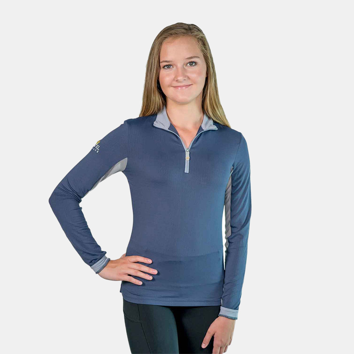 Kastel Denmark Christine Collection Long Sleeve Top in Midnight Blue