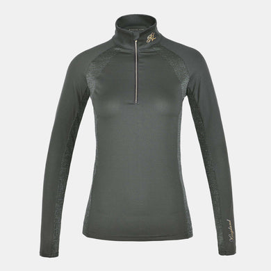 Kingsland Daniella Training Top in Green Black Ink