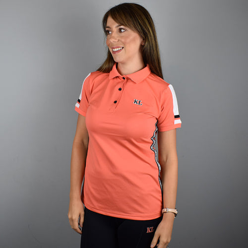Kingsland Uma Ladies Polo Shirt in Coral Living