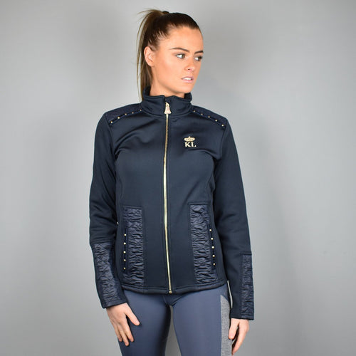 Kingsland Adak Ladies Fleece Jacket in Navy and Gold