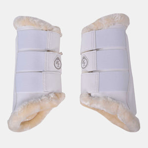 Kingsland Barels Front Leg Brushing Boots in White