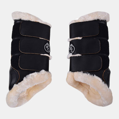 Kingsland Bevil Hind Leg Brushing Boots in Black