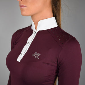 Kingsland Miranda Long Sleeve Show Shirt in Red Port Royal