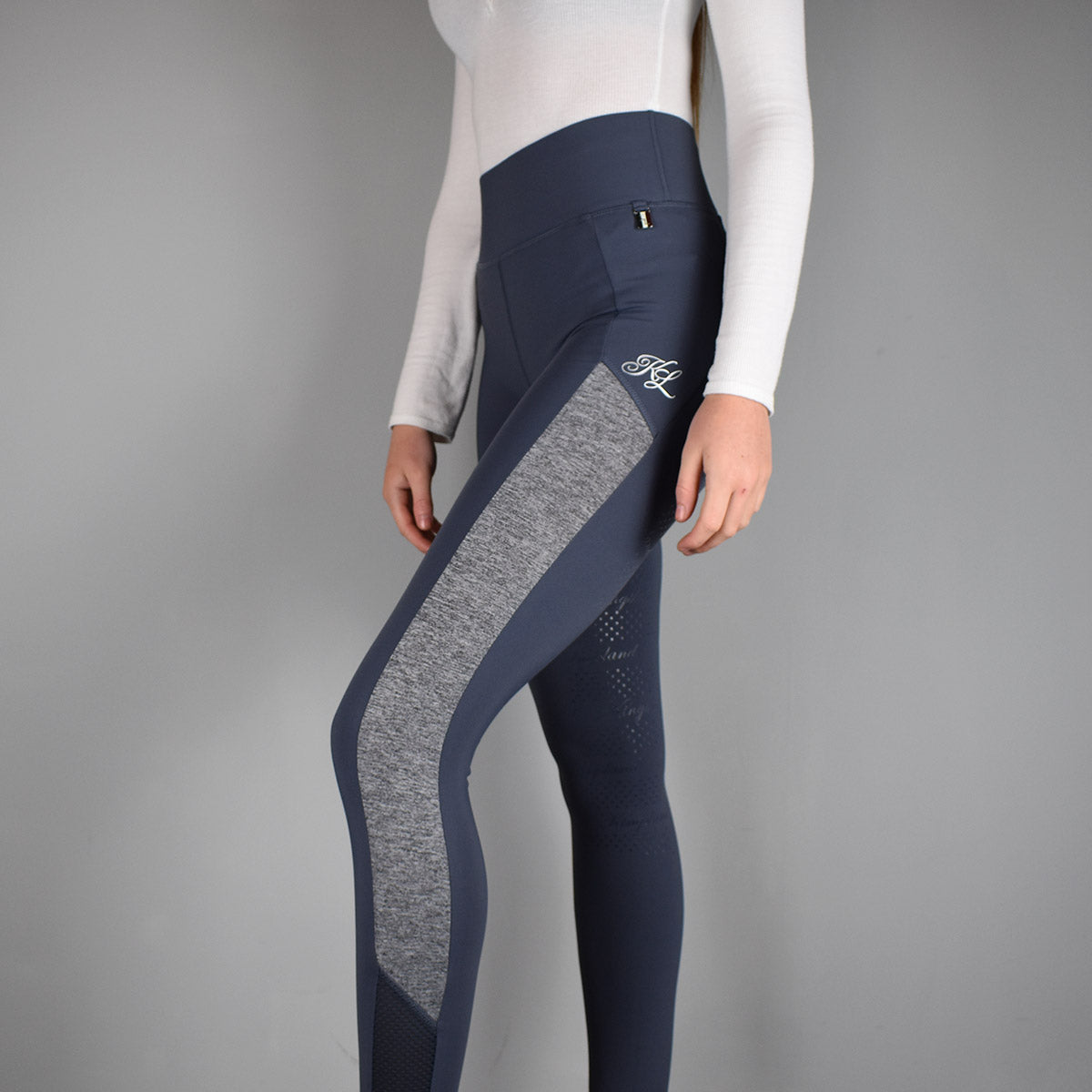 Kingsland Karina FSS Riding Tights in Blue Ombre