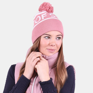 PS of Sweden Bobble Hat in Pale Pink