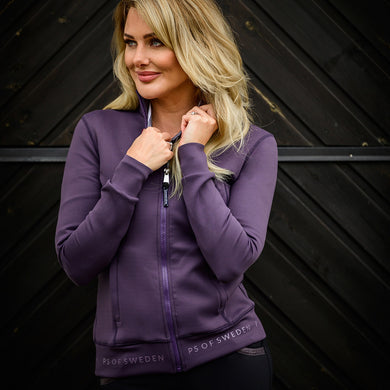 PS of Sweden Faith Full-Zip Sweater - Plum