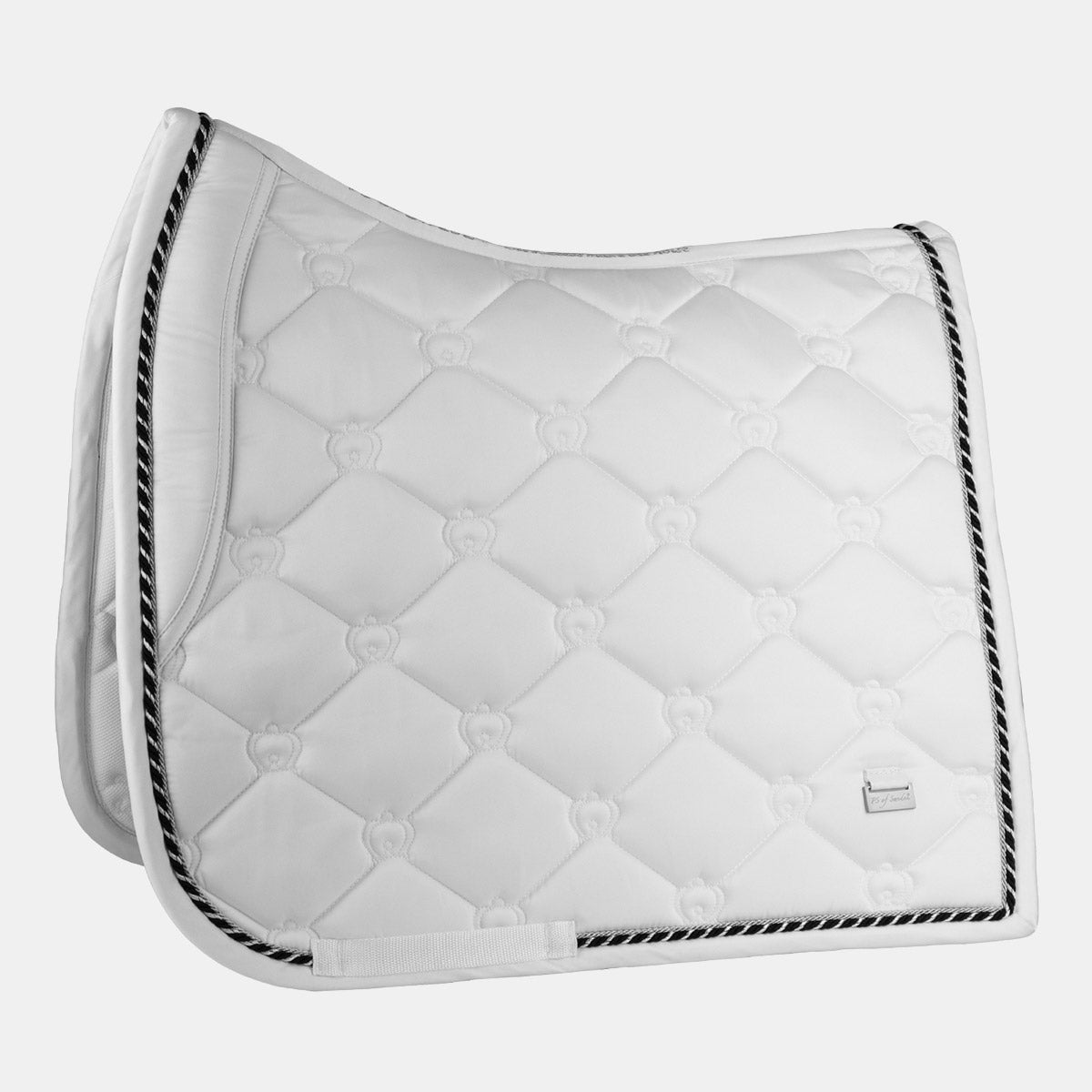 PS Monogram Dressage Saddlepad - White