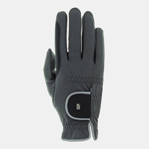 Roeckl Malta Winter Glove in Anthracite & Silver