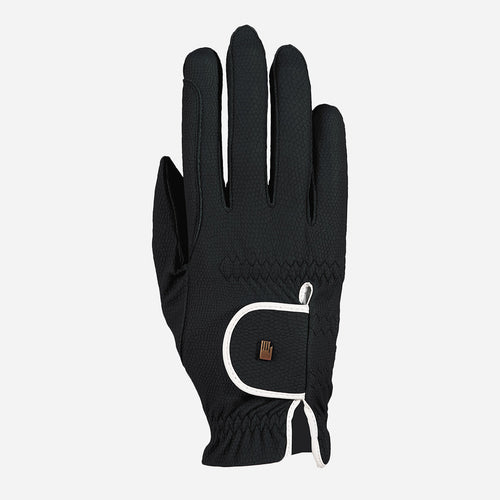 Roeckl Lona Riding Glove in Black & White