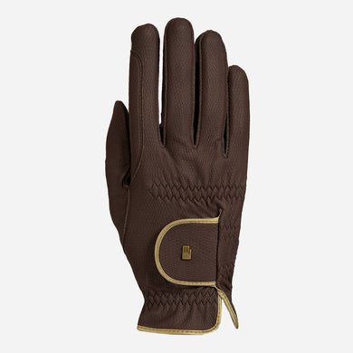 Roeckl Lona Riding Glove in Mocha and Gold