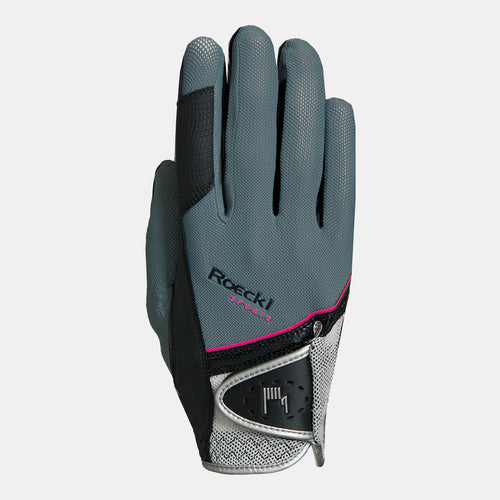 Roeckl Madrid Summer Riding Gloves in Grey