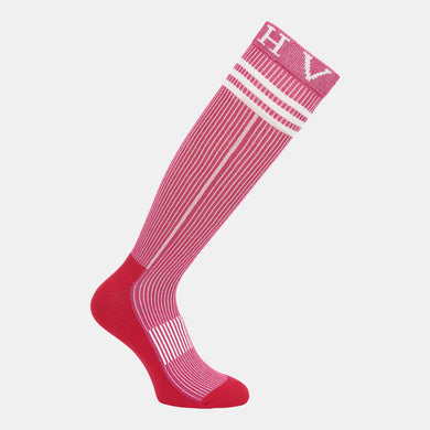 HV Polo Glitter Socks in Ruby Pink