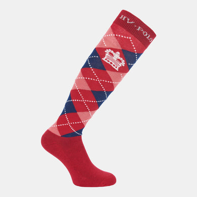 HV Polo Argyle Socks in Ruby Pink